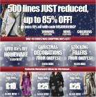 500 lines just reduced with up to 85% off Mens, Womens and Kids clothing + a further 10% off with voucher code @ Bargain Crazy!!