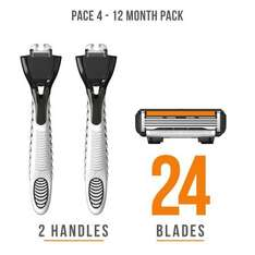 Dorco Pace 4 Razor value pack - HALF PRICE £12.48 (code MERRY50), free delivery