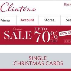 clintons up to 70% sale includes Yankee candles 50%off