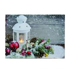 candle canvas print with flickering flame £1.99 @ Robert Dyas