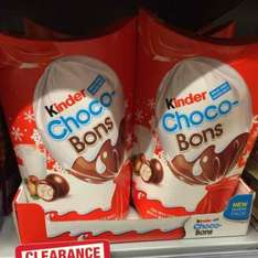 Kinder Chocco Bons 300g now reduced to £1.50 at the Co-op