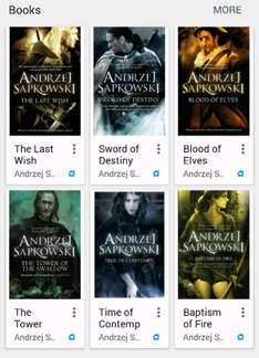 the witcher book series 99p Google play