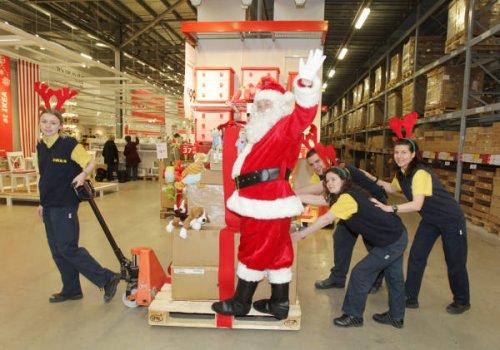 free Santa visit, toy, and photo @ IKEA
