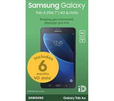 """SAMSUNG Galaxy Tab A 2016 7"""" 4G Tablet with 6 Months 4G Data Included - 8 GB, Black Was £249 Now £109.99 @ Currys"""