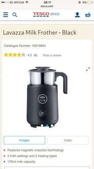 Lavazza Milk frother £28.50 at Tesco