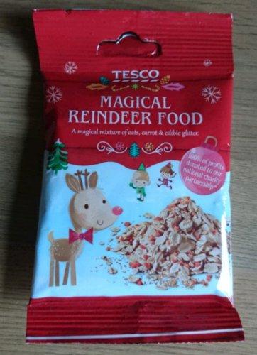Free reindeer food at Tesco.