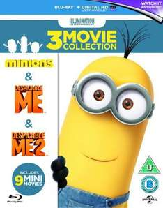 Despicable Me/Despicable Me 2/Minions Blu Ray Box Set with UltraViolet Copy + 9 mini movies £10.80 @ Zoom