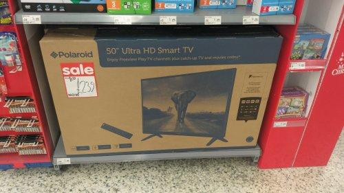 "50"" Polaroid Ultra HD TV in store Asda Bournemouth"