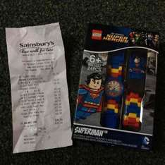 Lego watch superman £7 in store at Sainsbury's