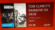Tom Clancy's  Rainbow Six Seige  £15.99 on the Playstation store