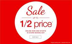 Matalan upto 1/2 price sale has started. Pyjamas, clothing footwear have been reduced examples below.
