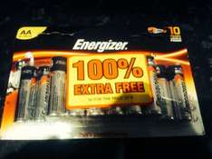 Bargain: 16 AA energiser batteries 100% extra free ( savers) Colne £2.99 wow real deal