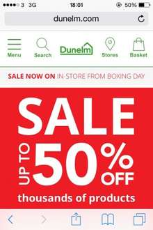 Dunelm up to 50% off Sale Now Online