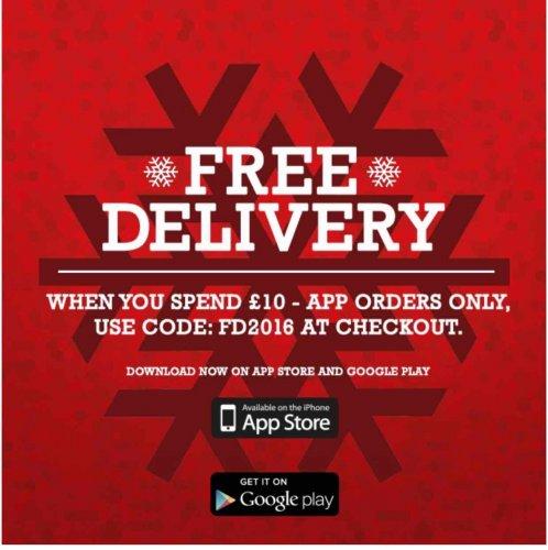 Free Delivery On Sweatshop with £10 spend via App