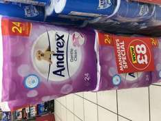 Andrex gentle clean 24PACK £8 @ poundworld (managers special)