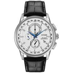 Citizen AT8110-02A Men's World Chronograph Leather Strap Watch, Black/White £189.50 @ John Lewis - Free Delivery or C&C