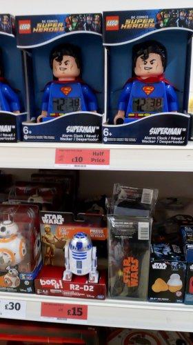 Lego Superman Clock £10.00 @ Sainsbury's