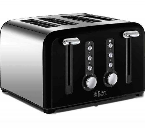 RUSSELL HOBBS Windsor 22832 4-Slice Toaster - Black £19 @ Currys