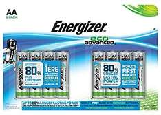 Energizer Eco AA/AAA Advanced Batteries 8 Pack - £2.50 @ Robert Dyas