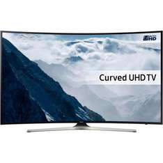 "Samsung UE40KU6100 40"" Smart 4K Ultra HD with HDR Curved TV for £369 at AO.com"