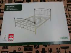 Beatrice Cream Double Bed in a Box £24.99 Instore Dunelm