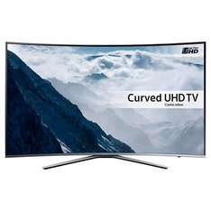 "Samsung UE55KU6500 Curved HDR 4K Ultra HD Smart TV, 55"" with Freeview HD/ Freesat HD, Playstation Now & Active Crystal Colour at John Lewis for £649"