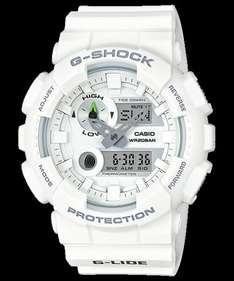 Casio GAX-100A-1AER Men's G-Shock G-lide Tide Graph Resin Strap Watch, White, £65 from j.lewis and amazon