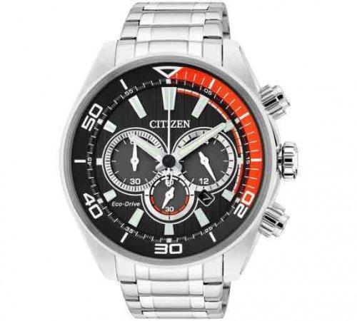 Citizen Men's Eco Drive Orange and Black Chronograph Watch £79.99 @ Argos