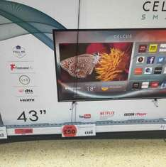 43 inch HD Celcus TV Model No: CEL-43FHDSB-16/1 Smart TV at Sainsbury's for £190