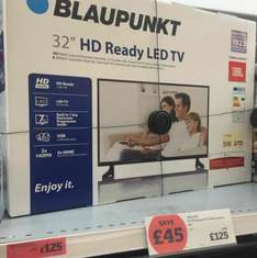 32 Inch LED TV at Sainsbury's instore for £125