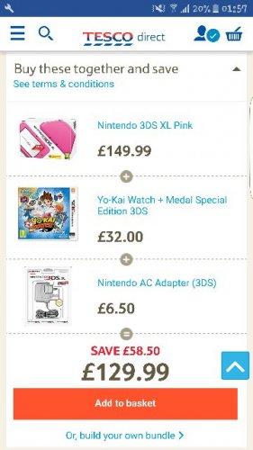 Nintendo 3ds xl Pink bundle £129.99 @ Tesco direct