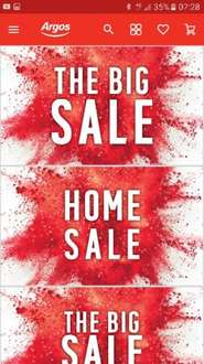 Argos boxing day Big Home Sale -  5.99