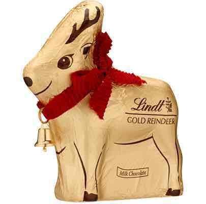 Lindt Gold Reindeer 100g (50% or more off) £1.00 Lindt Online Store (£3.95 del)