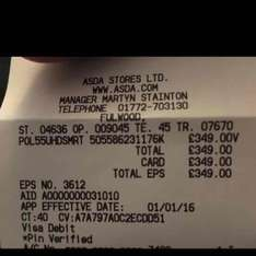 "55"" Polaroid UHD TV £350 @ ASDA"