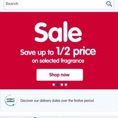 Up to half price on fragrances @ Boots