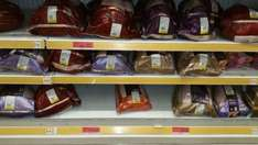 discounted  goose @ £12 & Turkey @ £10 at Sainsburys instore