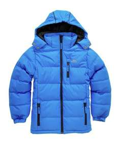 Trespass Blue Tuff Puffer Jacket, 3-10 years. Half price - £14.99 @ Argos