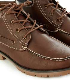Save 65% on New Look Brown Cleated Moccasin Boots £15.99 Delivered from New Look