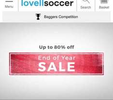 up to 80% off sale @ Lovell soccer