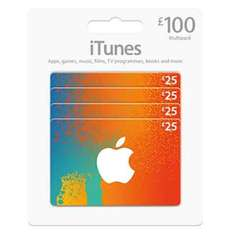 15% off iTunes cards, £85 for £100 cards (4x £25) via costco online
