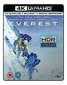 4K UHD blu rays from £13.49 Amazon with Prime. Lone Survivor, Lucy, Oblivion, Everest, Huntsman movies. Bournes from £15 each too