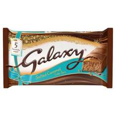 Galaxy salted caramel cake bars 69p in home bargains