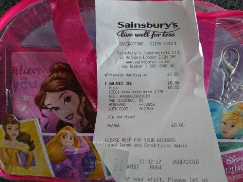 Disney Princess Handbag reduced to clear sainsburys 80p