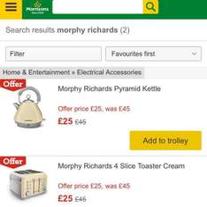 Morphy Richards kettle and toaster @ Morrisons online and instore