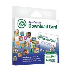 Half price (£7.50 for £15.00) LeapFrog Explorer App Centre Download Card (Amazon - Prime price)