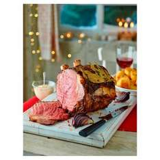 Tesco Finest British Sirloin Wing Rib rubbed with Sea Salt and Black Pepper  - 1.5-2.5kg, serves 8-12 £25 @ Tesco instore