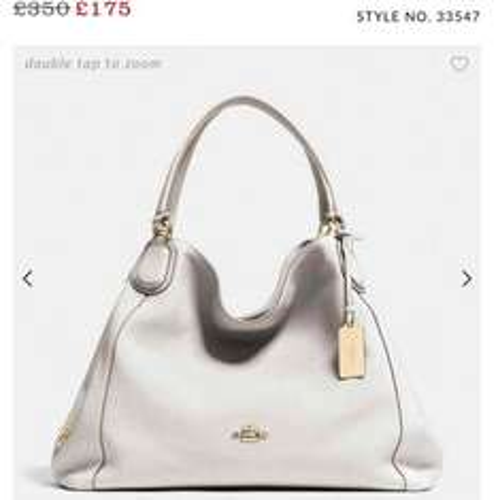 Edie Shoulder Bag Coach 1/2 Price NOW £175 @ Coach