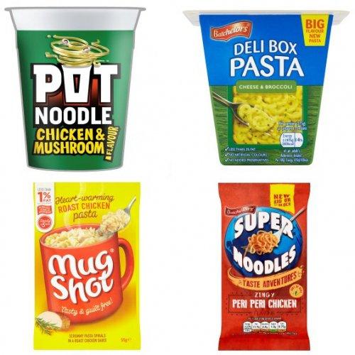 ASDA - Pot Noodles 50p, Mug Shot 50p, Deli Noodle Box 50p, Super Noodles 50p, Super Rice 50p, Super Pasta 'n' Sauce 50p