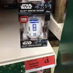 Star Wars USB Desktop Vacuum (Really??) (was £5) now £1 @ Sainsbury's