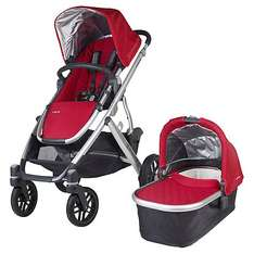 Uppababy Vista 2015 Pushchair and Carrycot, Denny Red £649.99 @ John lewis